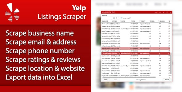 Yelp Listings Scraper