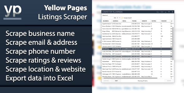 Yellow Pages Listings Scraper