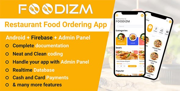 Restaurant Food Ordering in Android with Firebase + Admin Panel