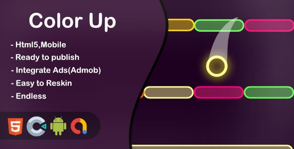 Color Up (Construct 3 + HTML + Mobile) - CodeCanyon Item for Sale