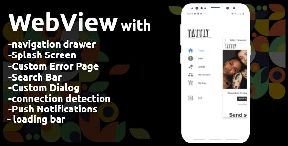 Webview with navigation drawer