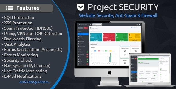 Project SECURITY – Website Security, Anti-Spam & Firewall - CodeCanyon Item for Sale