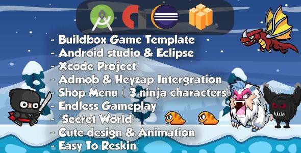 Ninja Adventure - Android Studio & Eclipse & Builbdox Game Template (64bit) - CodeCanyon Item for Sale