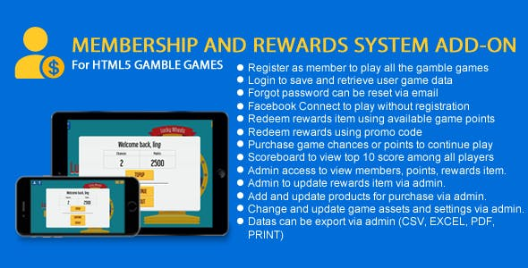 Membership and Rewards System Add-On