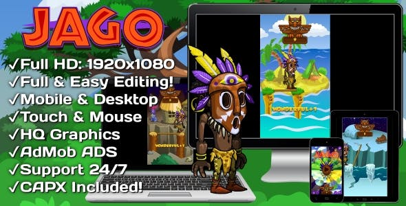 Jago - HTML5 Game + Mobile Version! (Construct 3 | Construct 2 | Capx)