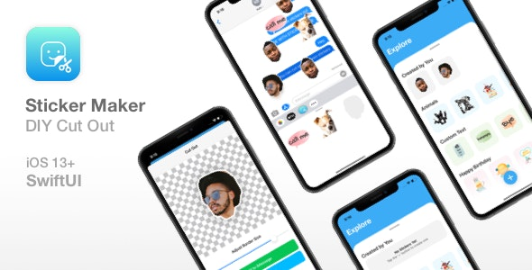Sticker Maker - Cut Out Feature - SwiftUI app - CodeCanyon Item for Sale