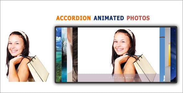 Accordion Animated Photo Slider