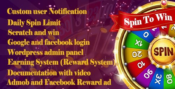 Spin To Win Facebook Admob Ad Integrated  With Reward System