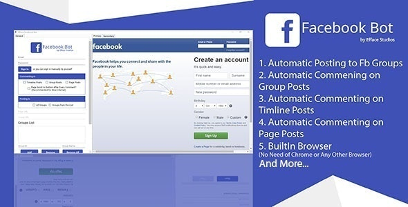 Efface Facebook Bot - A New Way of Social Engagements - CodeCanyon Item for Sale