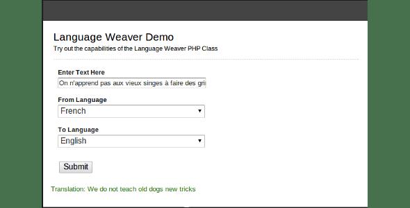 Language Weaver - CodeCanyon Item for Sale