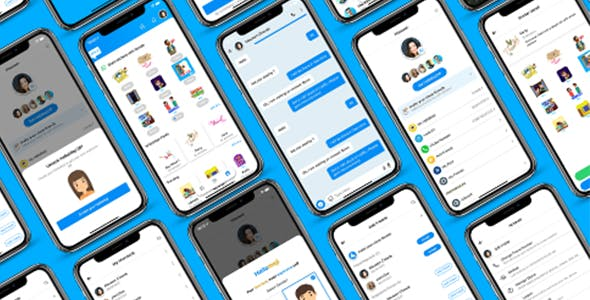 ionic 5 chatting app template