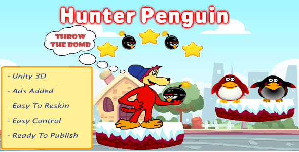 Hunter Penguin (admob-Unity Game)