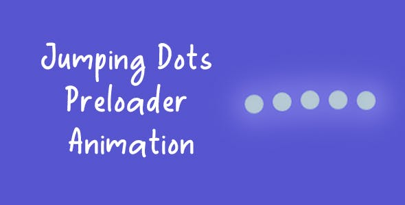 Jumping Dots Preloader / Loading Animation - Pure CSS