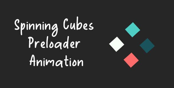 Spinning Cubes Preloader / Spinner Animation - Pure CSS