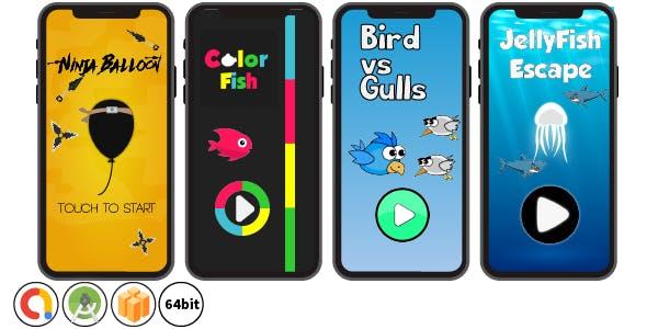 Bundle 4 Games - Android Studio & Buildbox Templates (64bit)