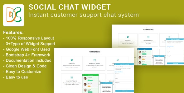 Social Chat Widget - CodeCanyon Item for Sale
