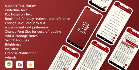 Android Offline eBook App - CodeCanyon Item for Sale