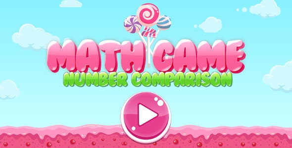 Math Game for Kids - Greater, Less, Same Educational Game (Construct 3) - CodeCanyon Item for Sale