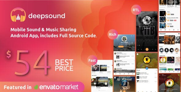 DeepSound Android- Mobile Sound & Music Sharing Platform Mobile Android Application