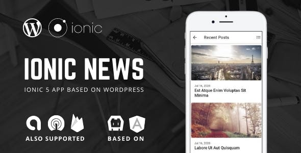 Ionic 5 News, Blog App For WordPress