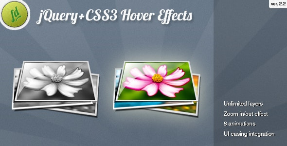 jQuery CSS3 Image Hover Effects - CodeCanyon Item for Sale