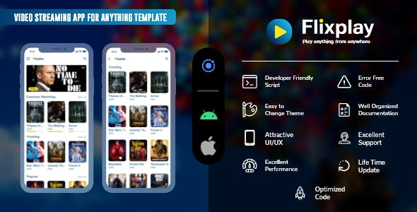 online video streaming app templates for android and iOS using IONIC 5