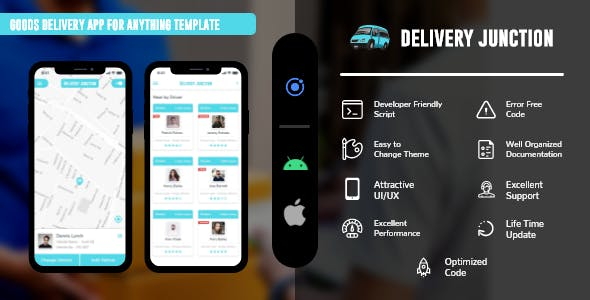 Delivery Junction - On Demand Movers & Packer  ionic 5 template