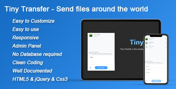 TinyTransfer - Send files around the world 1.1.6 - CodeCanyon Item for Sale