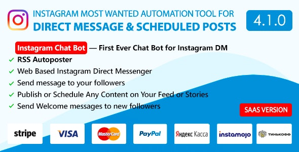 DM Pilot — Instagram Chat Bot, Web Direct Messenger & Scheduled Posts - CodeCanyon Item for Sale