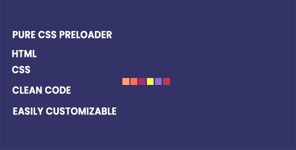 Pure CSS Preloader - CodeCanyon Item for Sale