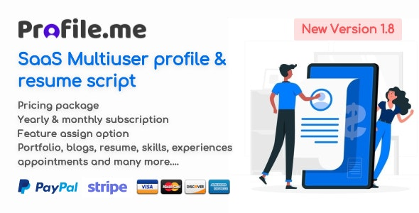 Profile.me - Saas Multiuser Profile & Resume Script - CodeCanyon Item for Sale