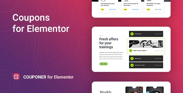 Couponer – Discount Coupons for Elementor - CodeCanyon Item for Sale