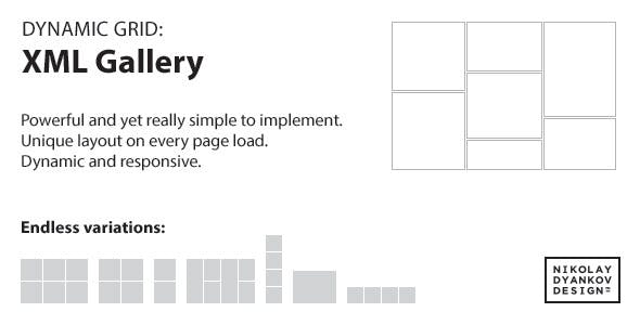 jQuery Dynamic Grid: XML Gallery
