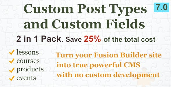 Custom Content Pack for Fusion Builder
