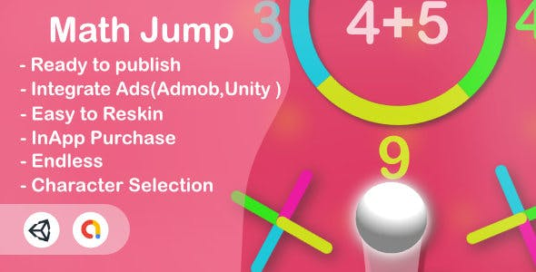 Math Jump (Unity Complete+Android+iOS+Admob)