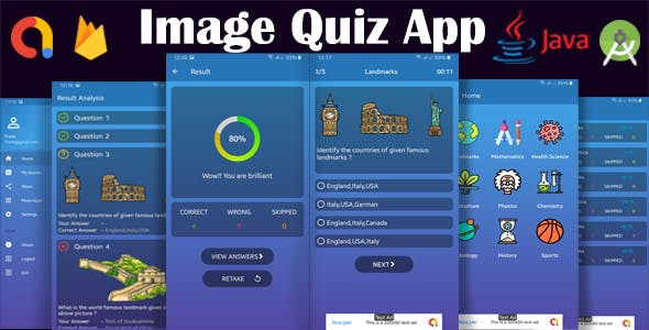 Android Image Quiz App with Firebase and AdMob Integrated