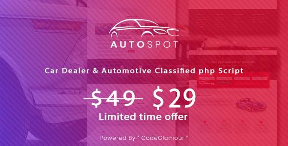 Autospot - Classified Ads Script for Automobile & Vehicles