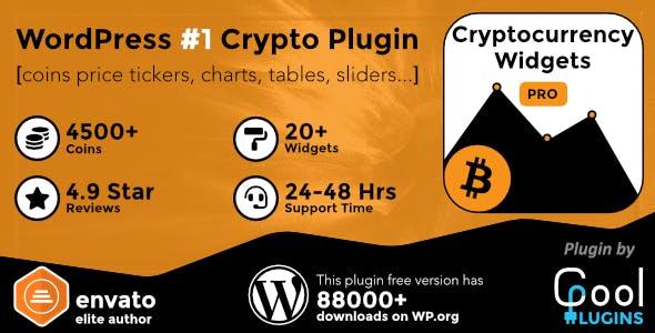 Cryptocurrency Widgets Pro - WordPress Crypto Plugin