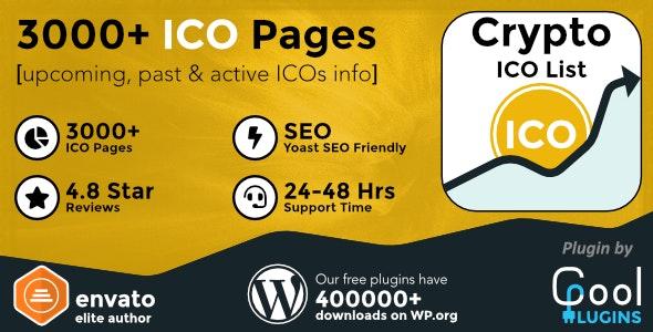 Crypto ICO List Widgets Pro - WordPress ICO Database Plugin - CodeCanyon Item for Sale