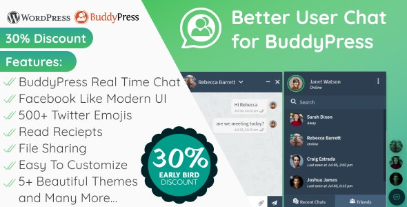 Better User Chat for BuddyPress - CodeCanyon Item for Sale