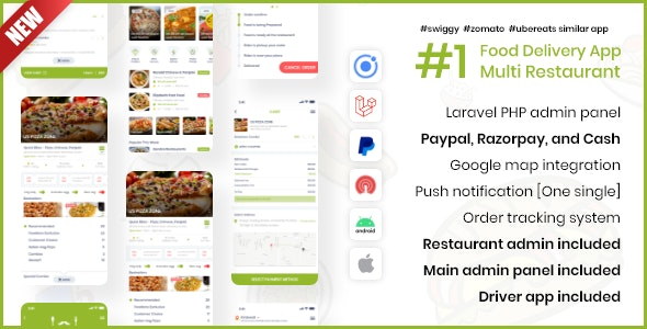 Grocery, Food Delivery Mobile App with Web Panels - CodeCanyon Item for Sale