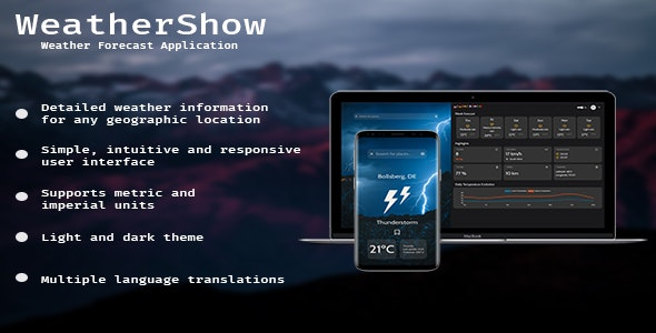 WeatherShow - CodeCanyon Item for Sale