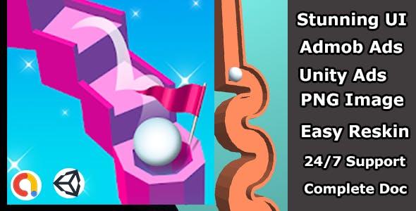 Tenkyu 3d Hole rolling ball Arcade jump ball game