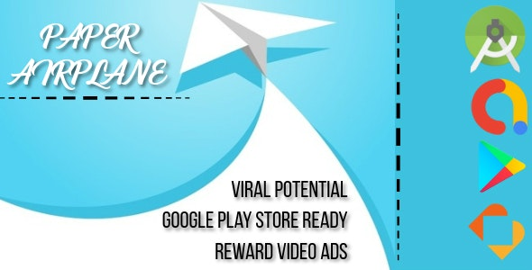 Paper Airplane - Android Studio - BuildBox - AdMob Ads Reward Video - CodeCanyon Item for Sale