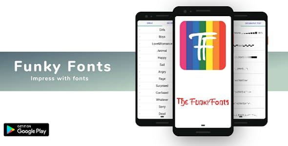 Funky Fonts - Cool Fonts Keyboard Stylish Font