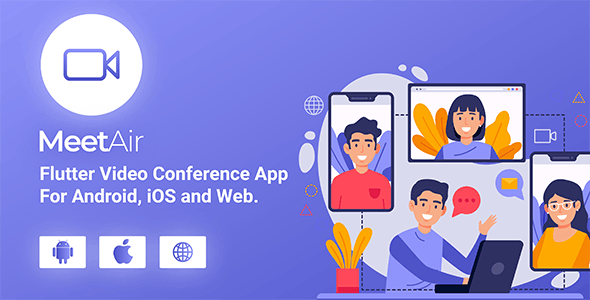 MeetAir - iOS and Android Video Conference App for Live Class, Meeting, Webinar, Online Training