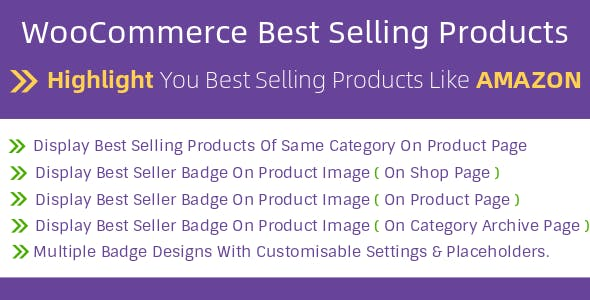 WooCommerce Best Selling Products