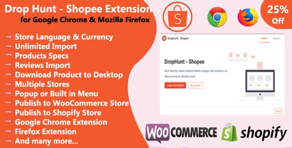 DropHunt- Shopee(WooCommerce & Shopify) Google Chrome & Firefox Extension