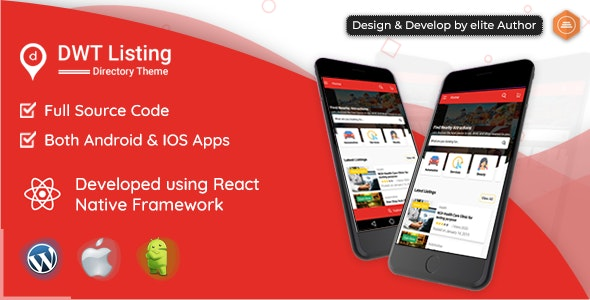 DWT Listing - Directory & Listing React Native App - CodeCanyon Item for Sale