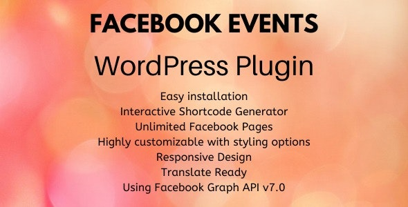Facebook Events - WordPress Plugin - CodeCanyon Item for Sale